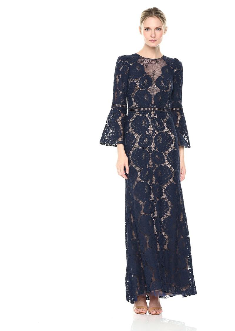 Tadashi Shoji Women's Lace Bell Sleeve Gown