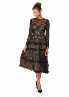 Tadashi Shoji Women's l/s All-Over lace Dress