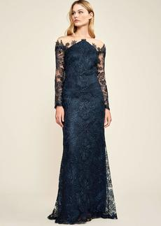 Tadashi Shoji Women's L/S Cord LACE Gown