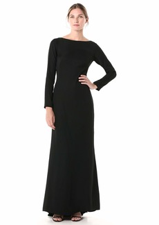 Tadashi Shoji Women's L/S LACE and Crepe Gown