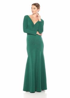 Tadashi Shoji Women's l/s Pintuck Gown  M