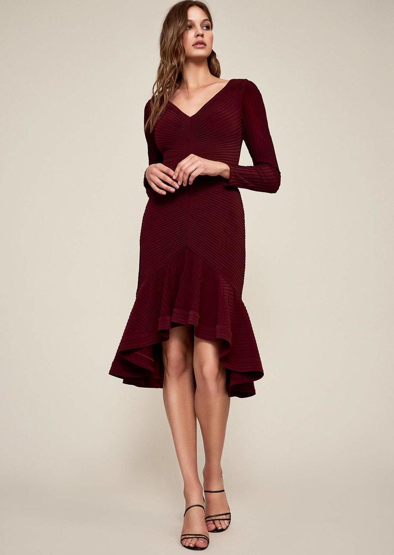 Tadashi Shoji Women's l/s Pintuck hi-Low Dress  M
