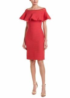 Tadashi Shoji Women's Off Shldr Pintuck Dress  L