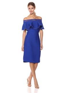 Tadashi Shoji Women's Off Shldr Pintuck Dress  S