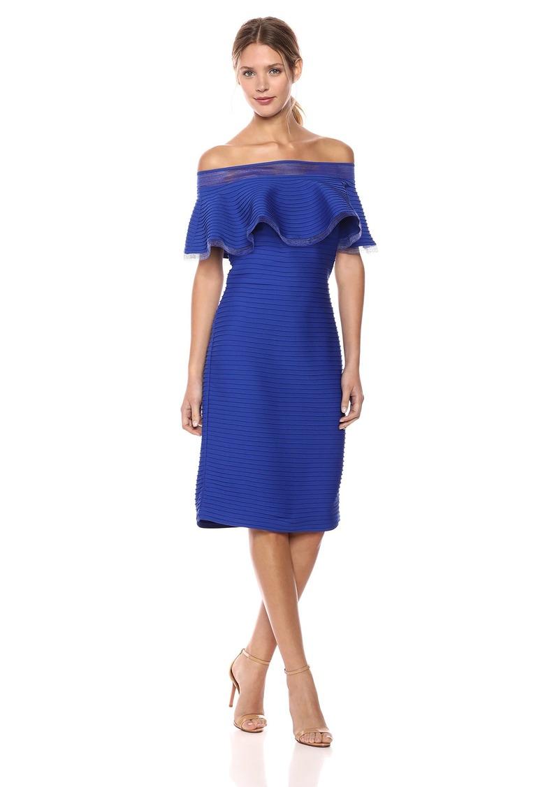 Tadashi Shoji Women's Off Shldr Pintuck Dress  XS