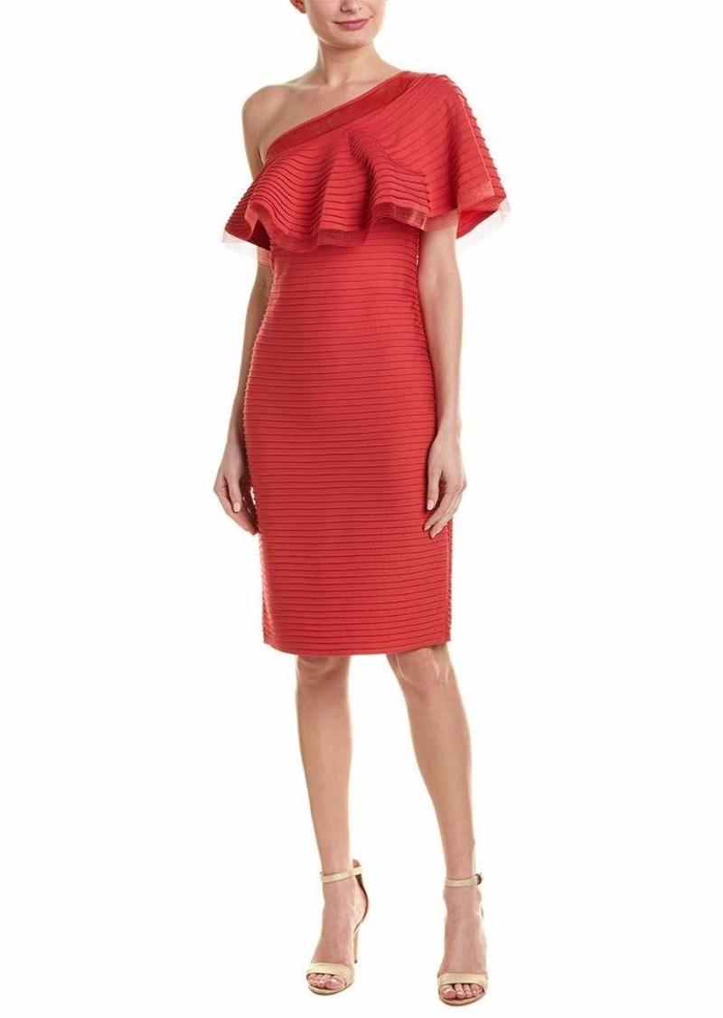 Tadashi Shoji Women's ONE Shldr Pintuck Dress  L