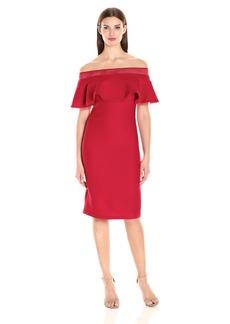 Tadashi Shoji Women's Ruffle Off the Shoulder Dress  XL