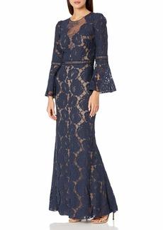 Tadashi Shoji Women's Ruffle Off The Shoulder Gown  M
