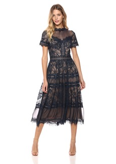 Tadashi Shoji Women's s/s lace midi Dress