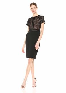 Tadashi Shoji Women's S/S LACE/Neoprene Dress