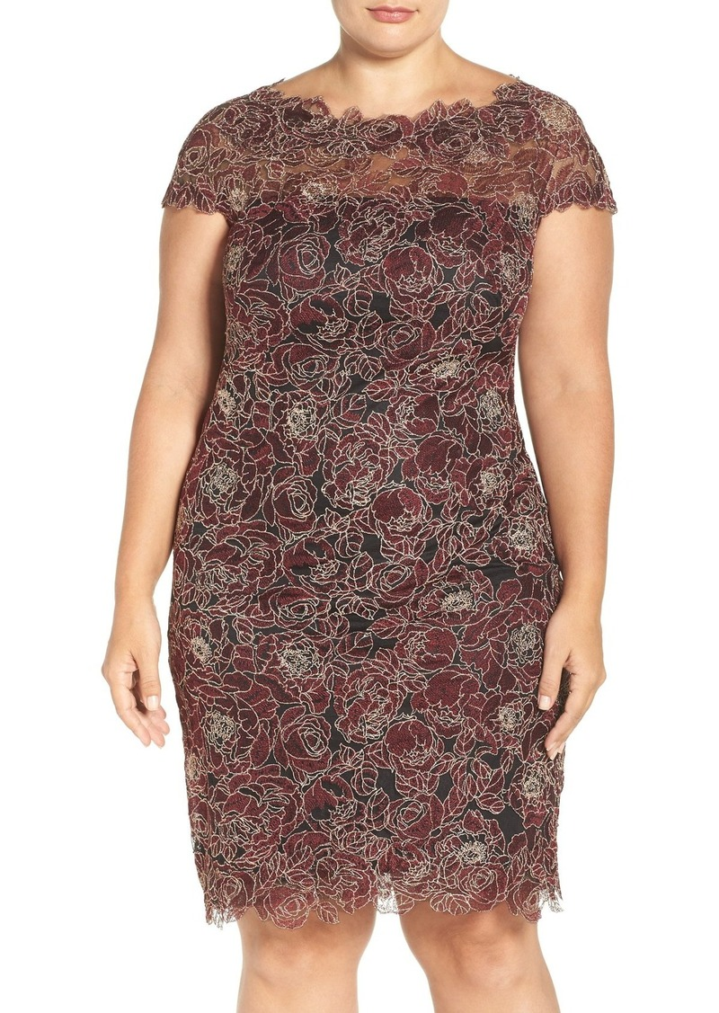 Tadashi Tadashi Shoji Rose Embroidered Lace Sheath Dress (Plus Size) |  Dresses