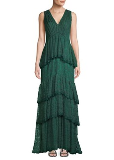 Tadashi Tiered Lace Gown