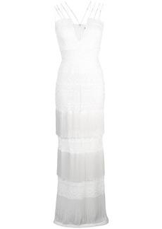 Tadashi V-plunge fringed dress