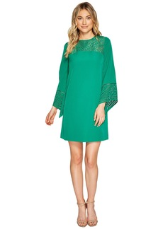 Tahari 3/4 Sleeve Cut Out Detail Shift Dress
