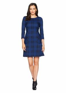 Tahari 3/4 Sleeve Dress with Kick Pleat