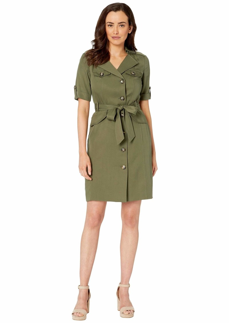 Tahari 3/4 Sleeve Modal Safari Dress