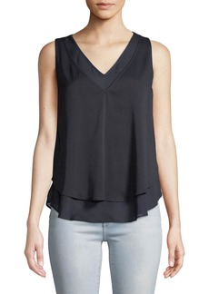 Tahari Alice V-Neck Layered Tank