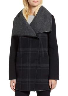 Tahari Amelia Plaid Wool Blend Jacket