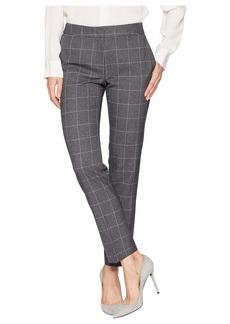 Tahari Ankle Length Windowpane Plaid Pants