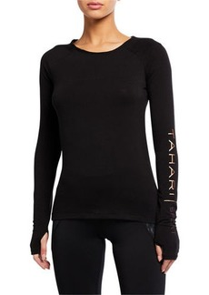 Tahari Ashley Fitted Mesh Yoga Tee