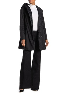 Tahari Asymmetrical Front Hooded Jacket