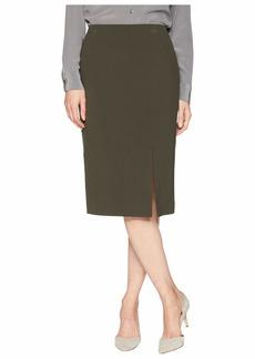 Tahari Bi-Stretch Pencil Skirt with Front Slit