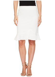 Tahari Bi-Stretch Slim Skirt w/ Ruffle Bottom