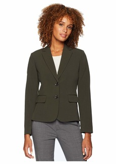 Tahari Bi-Stretch Two-Button Jacket