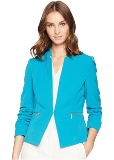 Bistrech Star Neck Jacket with Rouched Sleeve