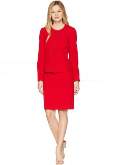Bistretch Snap Closure Skirt Suit