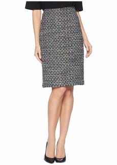 Tahari Boucle Sequin Skirt