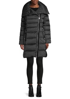 Tahari Brooklyn Asymmetrical-Zip Down Puffer Coat