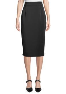 Tahari Carmina Straight Midi Skirt w/ Exposed Back zip