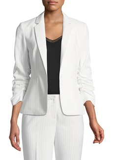 Tahari Cassius Scrunch-Sleeve Jacket
