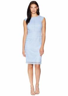 Tahari Chemical Lace Sheath Dress