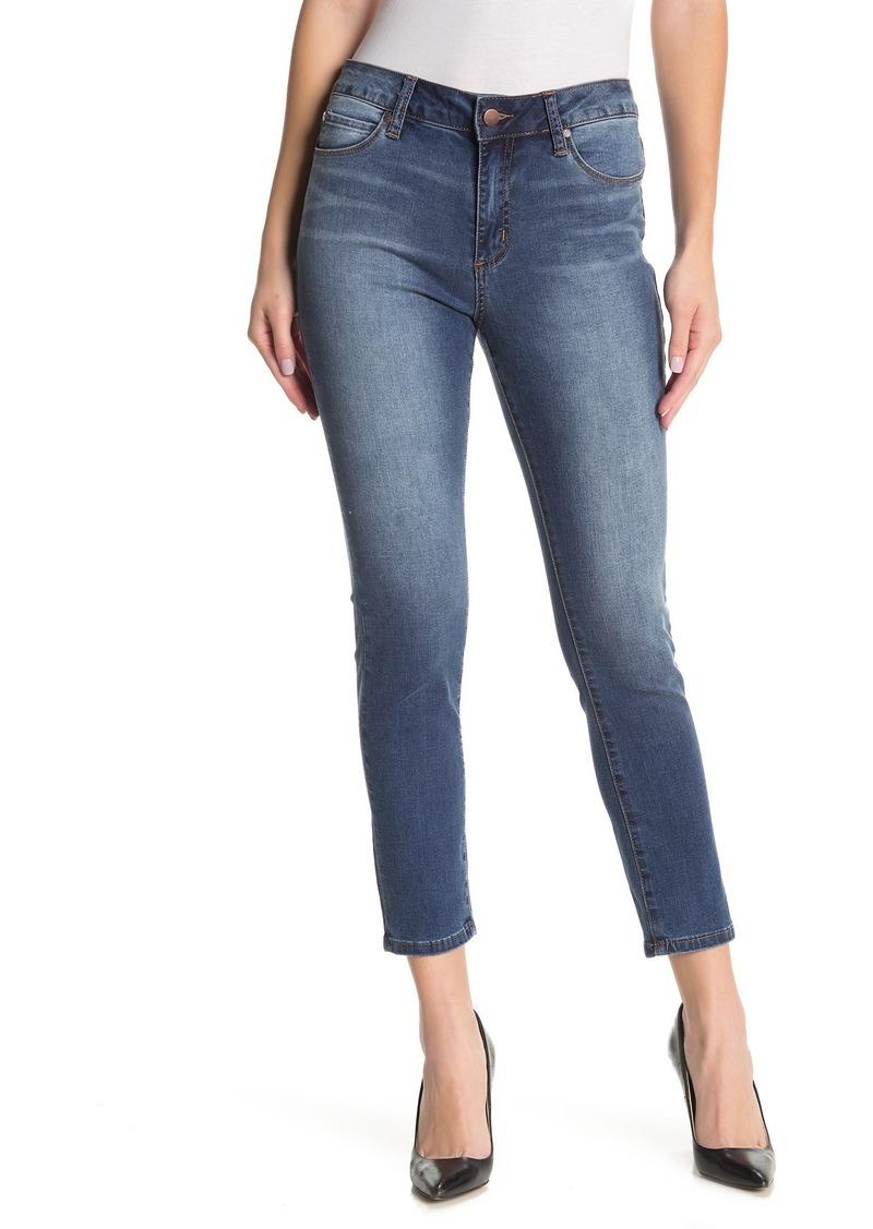 Tahari Classic Mid Rise Skinny Jeans