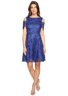 Tahari Cold Shoulder Lace A-Line Dress