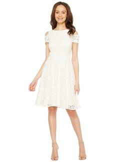 Tahari Cold Shoulder Lace Dress
