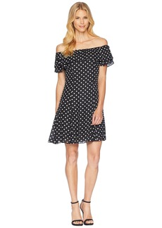 Tahari Convertible Dot Dress