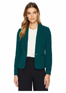 Tahari Crepe One-Button Shawl Collar Jacket