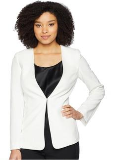 Tahari Crepe Open Slit Sleeve Jacket