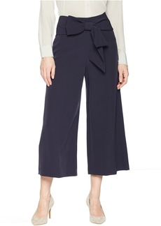Tahari Crop Pants with Bow at Waist