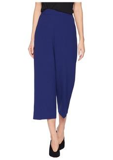 Tahari Cropped Crepe Flat Front Pants