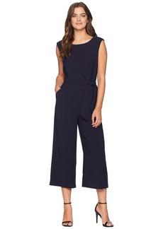 Tahari Cropped Side-Tie Jumpsuit