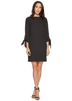 Tahari Diamond Print Georgette Shift
