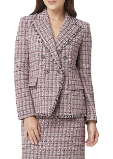Tahari Double-Breasted Tweed Jacket