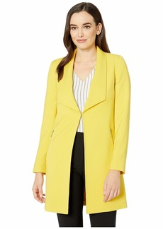 Tahari Double Weave Open Topper Jacket
