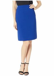 Tahari Double Weave Wide Waistband Skirt