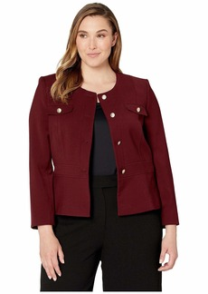 Tahari Double Woven Military Style Jacket