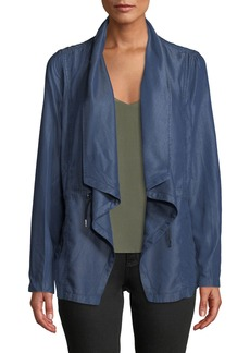 Tahari Draped Open-Front Tencel Jacket